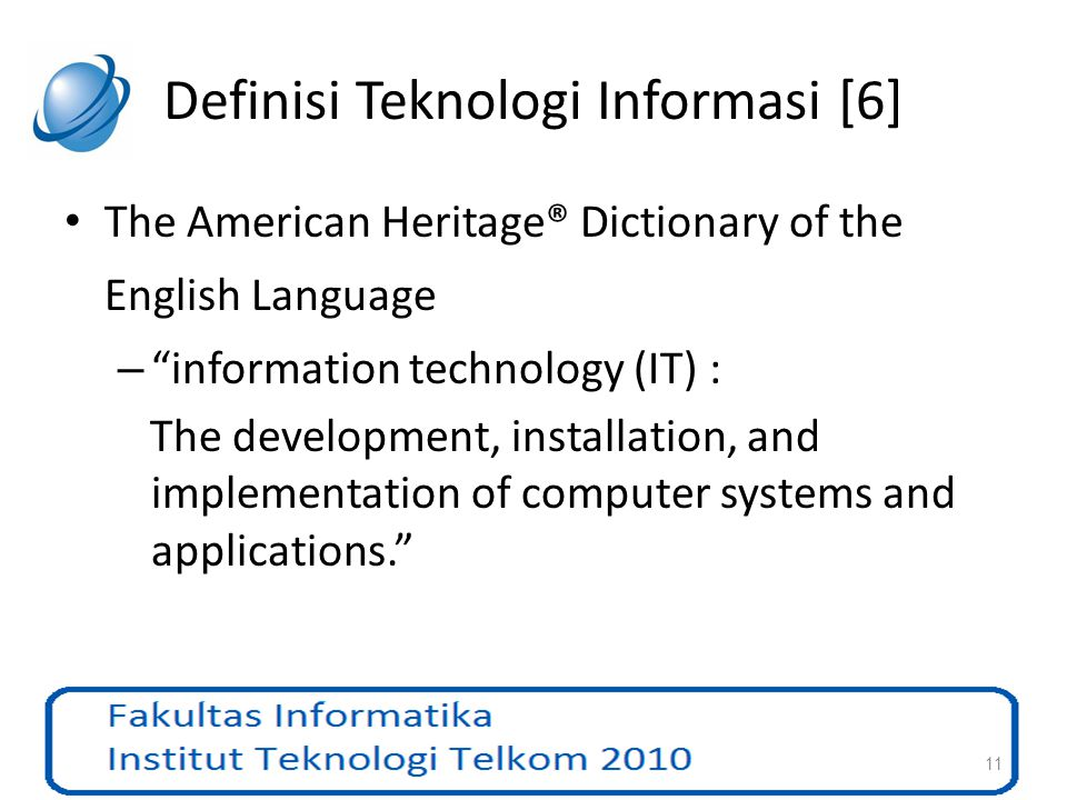 Definisi Teknologi Informasi [6]